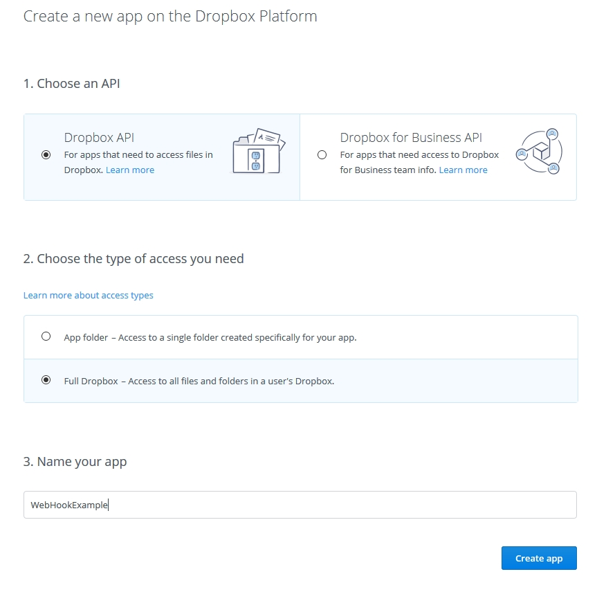 WebHooks with ASP.NET on Azure - DropBox and GitHub