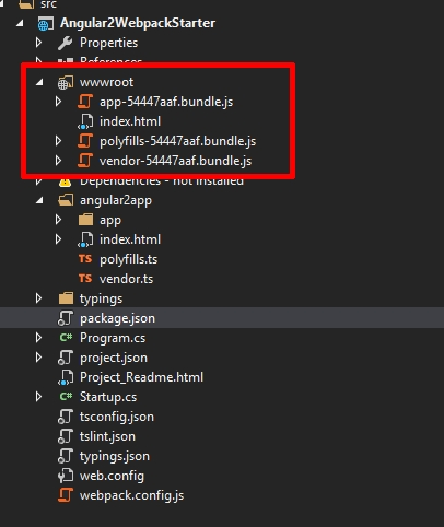How to set up Angular and Webpack in Visual Studio with ASP